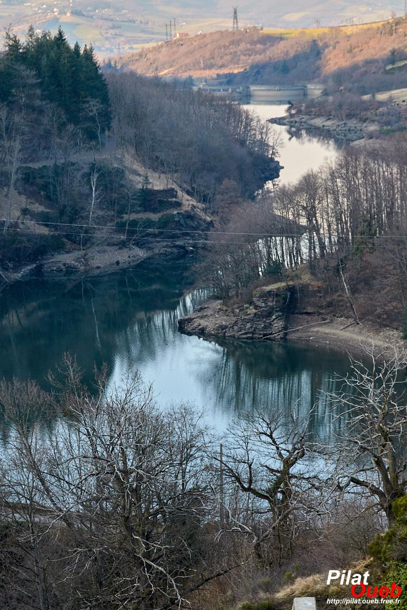Barrage de la Rive<br/>(février 2009)