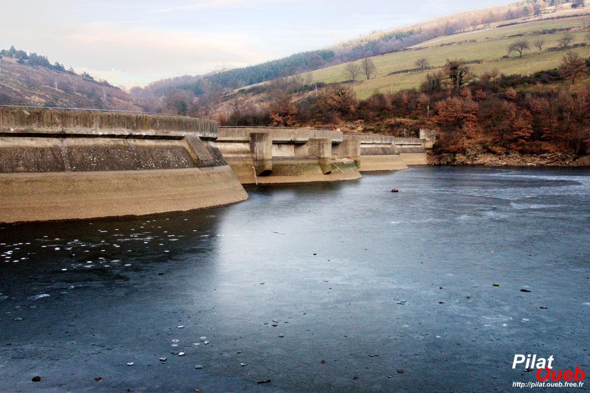 Barrage de Soulages<br/>(janvier 2009)