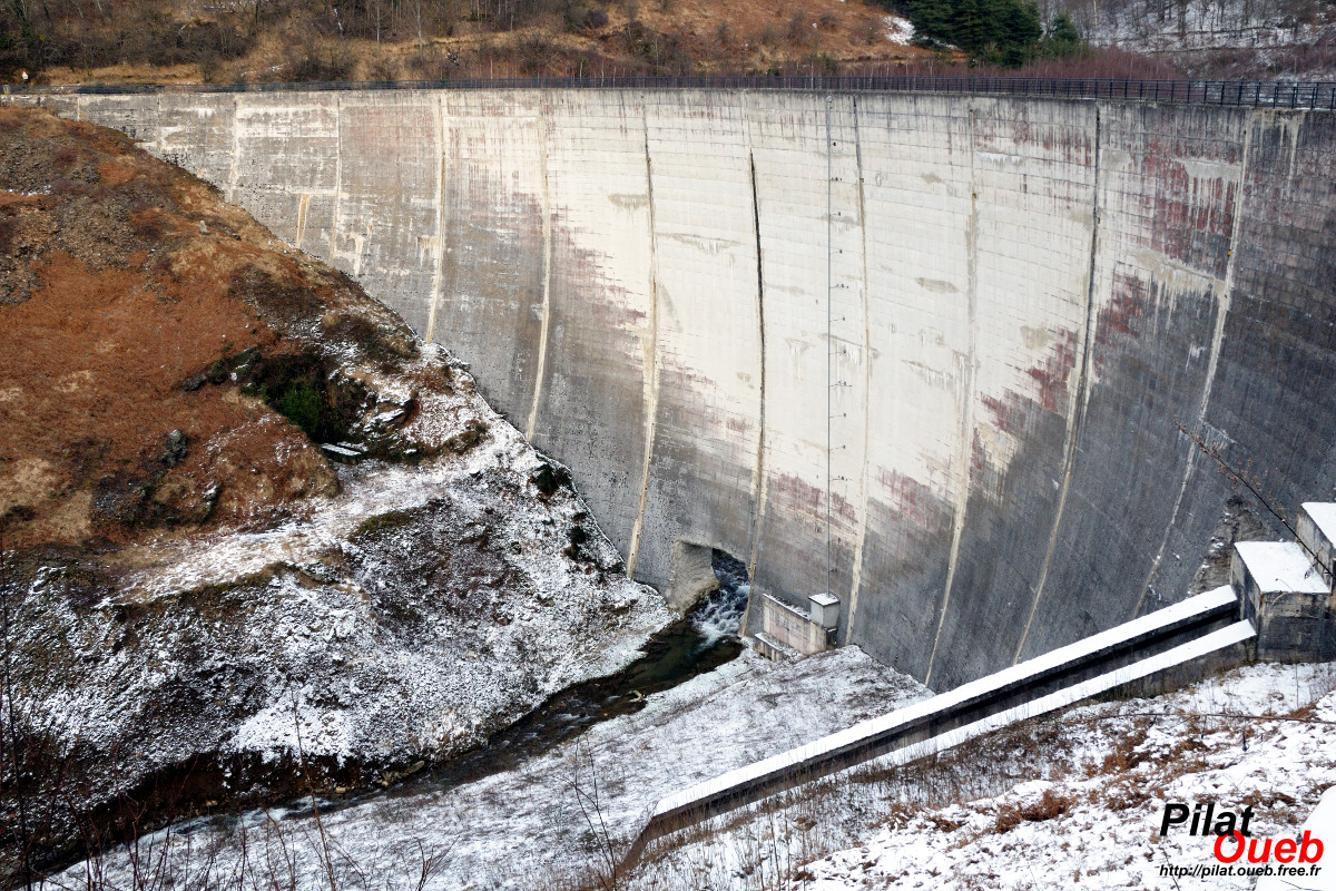 Barrage du Piney (février 2009)