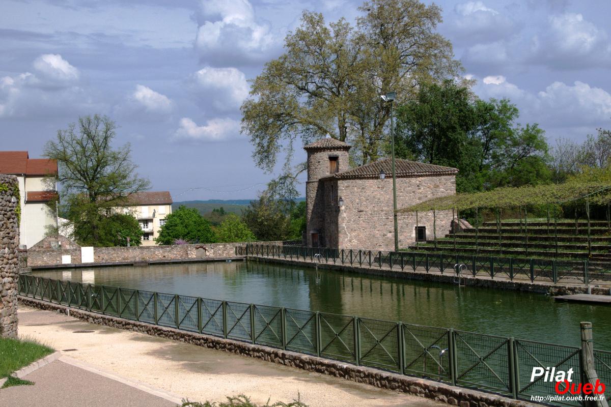 Le bassin de joutes à Chavanay<br/>(avril 2009)