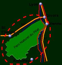 Localisation du Pilat