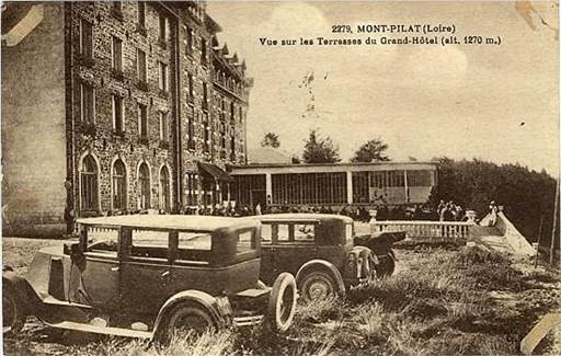 La terrase du Grand hôtel du Pilat