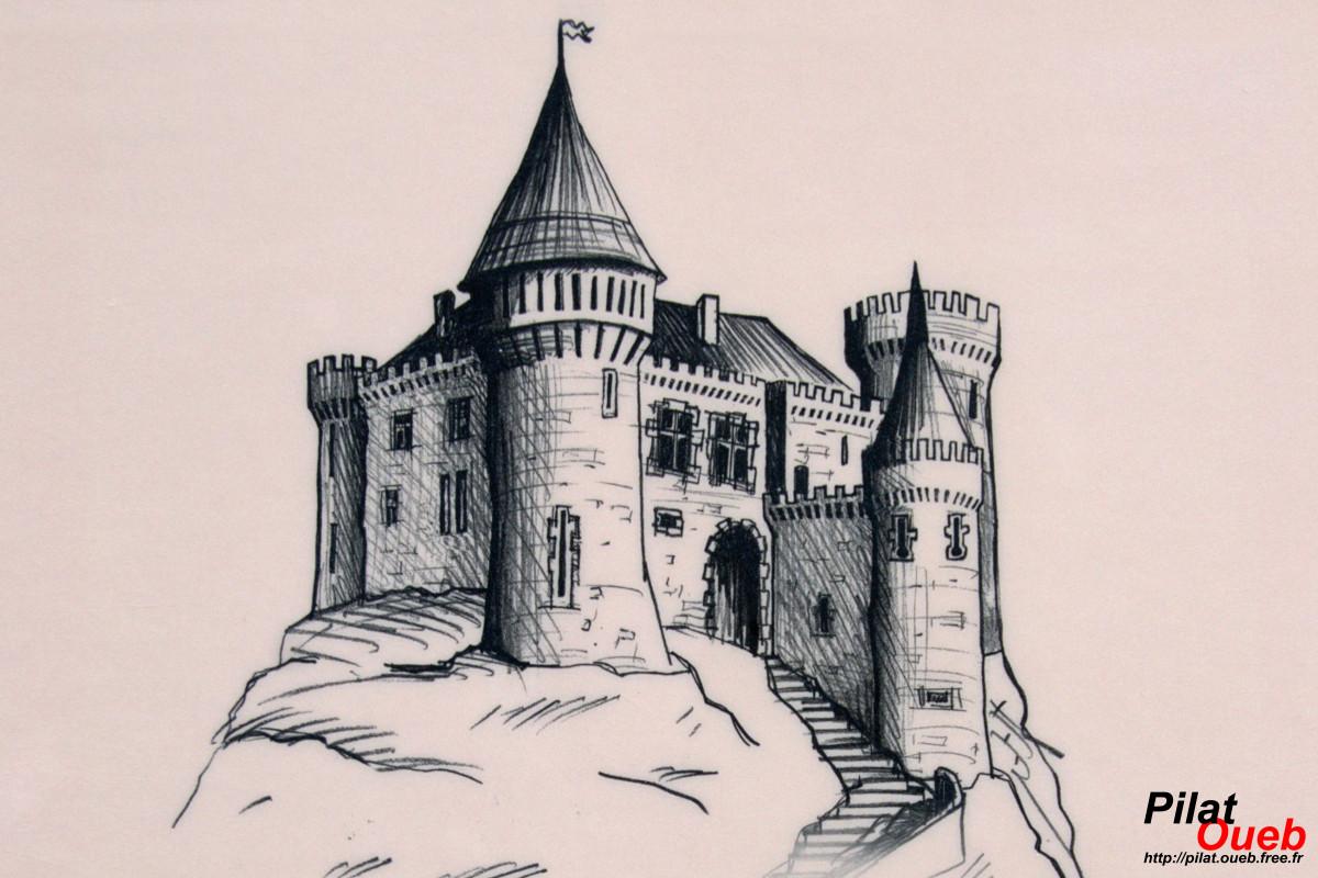 Reconstitution du château de Rochetaillée