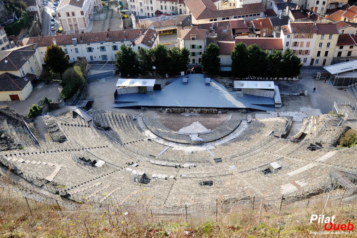 Le théâtre antique de Vienne (mars 2008)